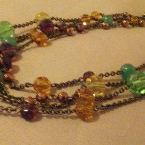 Lia Sophia Multi, Four-Strand Necklace